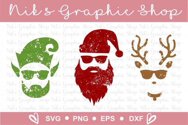 Hipster Santa Svg Elf Svg Reindeer Svg Christmas Svg Hipster Santa Christmas Svg Hipster Christmas