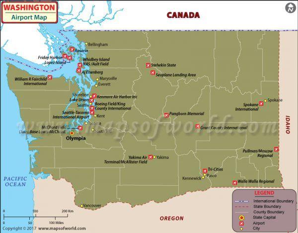 US Major Airports Map
