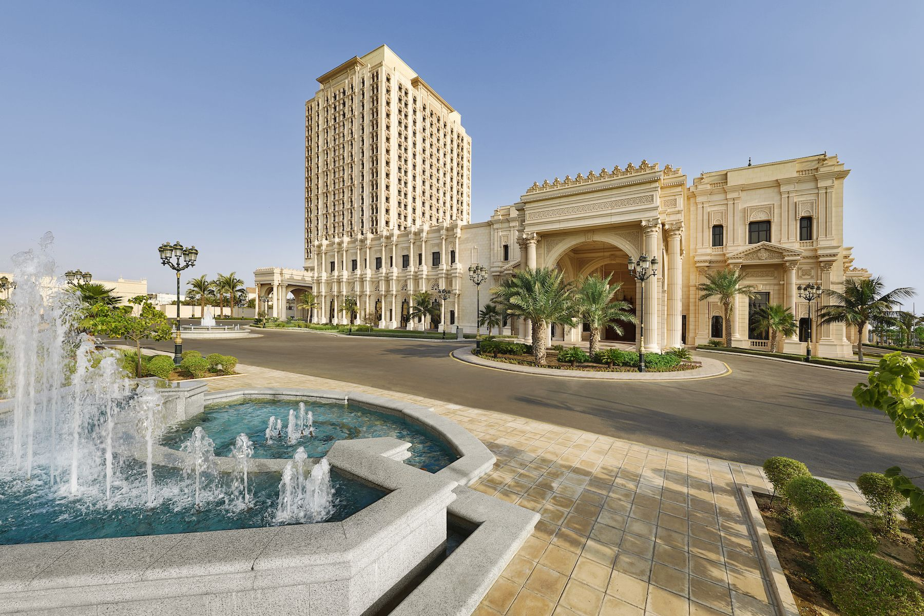 Fountains And Gardens Planned On A Classic French Layout Surround The Ritz Carlton Jeddah Jeddah Luxury Hotel Ritz Carlton