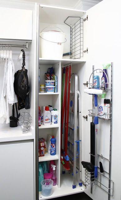 armario productos limpieza  Armrio Lavanderia  Armario