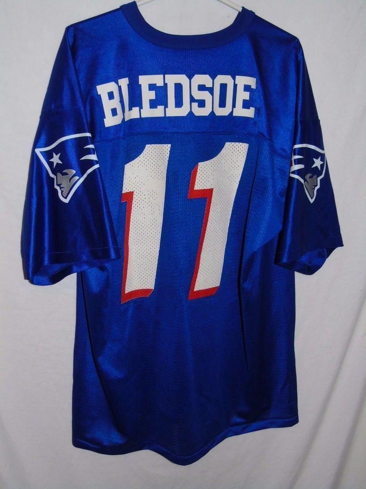 afe8404bc VTG 1990s Logo Athletic Drew Bledsoe New England Patriots jersey XL 50-52  USA  LogoAthletic  NewEnglandPatriots