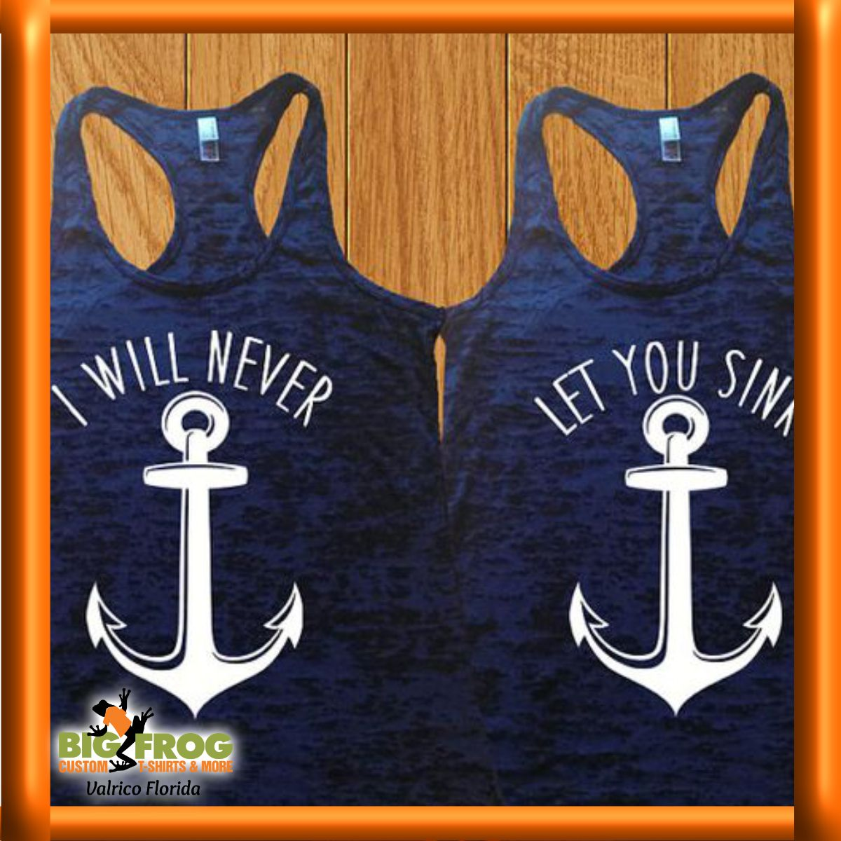 Nautical BFF shirt, get yours customized at #BigFrog of #Valrico.