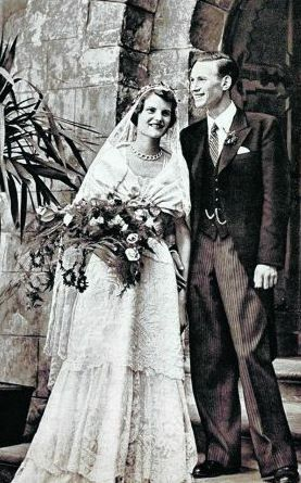 Their Serene Highnesses Prince Christian and Princess Sylvia of Bentheim and Steinfurt. Married: August 7, 1950