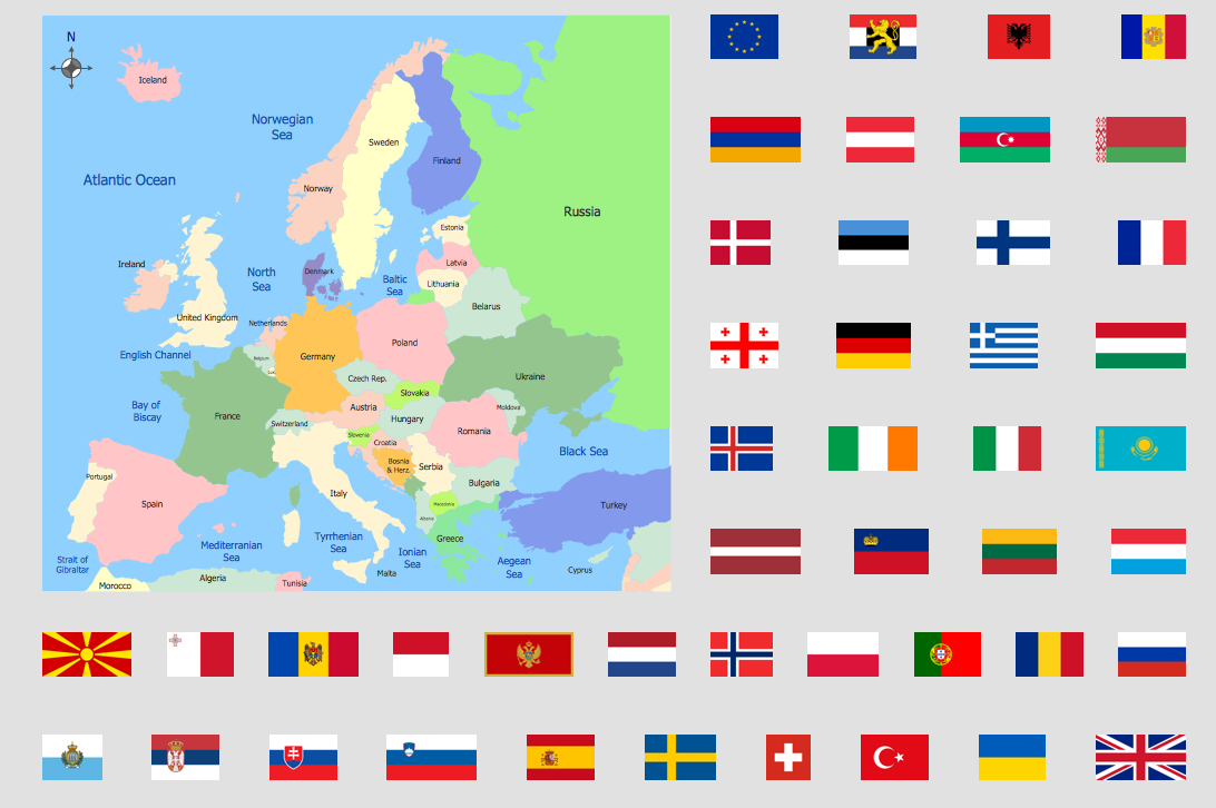 Europe Political Map  Maps  Continent Maps  Pinterest