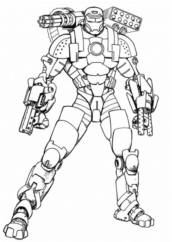 War Machine Coloring Pages Superhero Coloring Pages Avengers