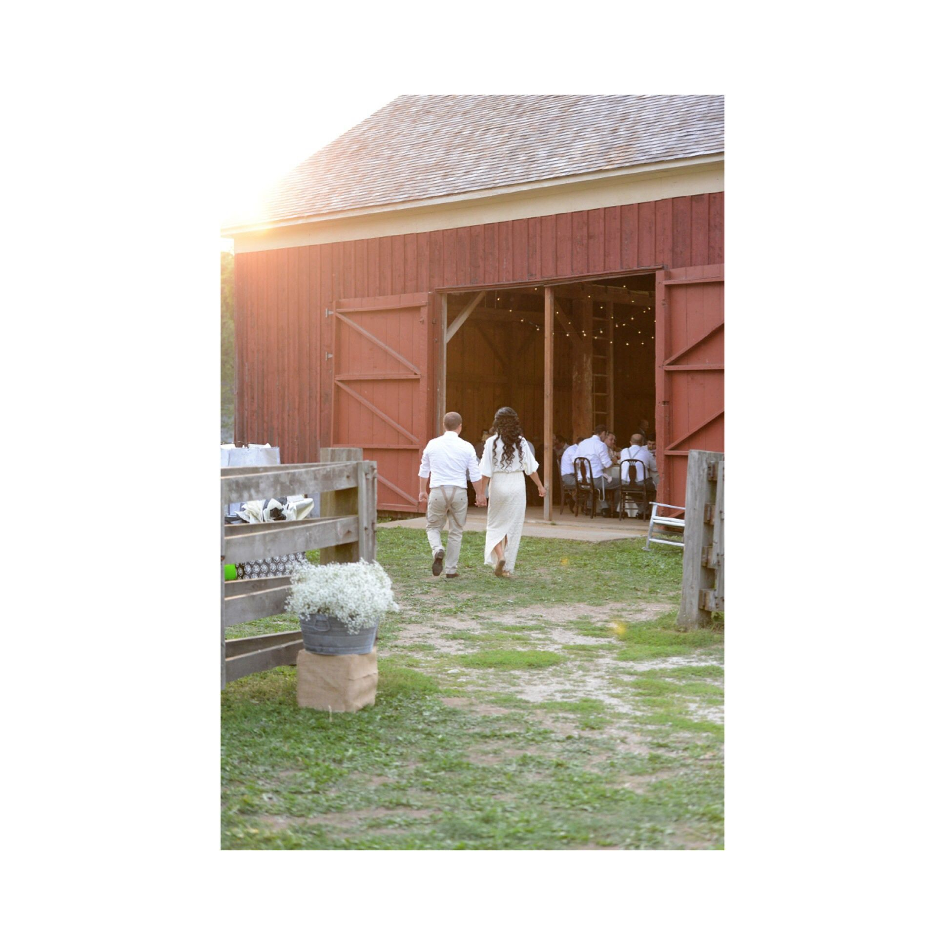 Outdoor Wedding Wisconsin: Barn Reception Trimborn Farm, Greendale WI. Rustic Wedding