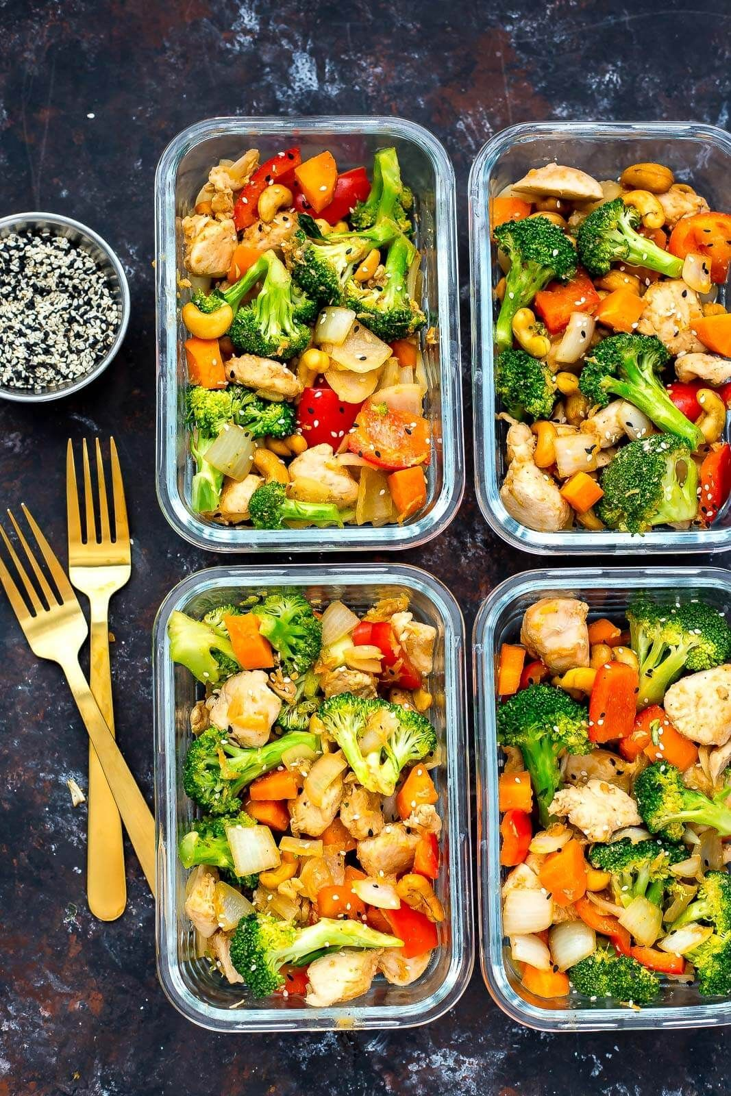 #chicken #cashew #bowls #meal #prepCashew Chicken Meal Prep Bowls