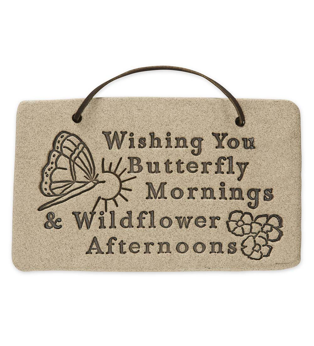 Garden wall plaques - This Charming Stoneware Butterfly Wall Plaque Delivers A Pleasant Summertime Greeting To All Wishing You Butterfly