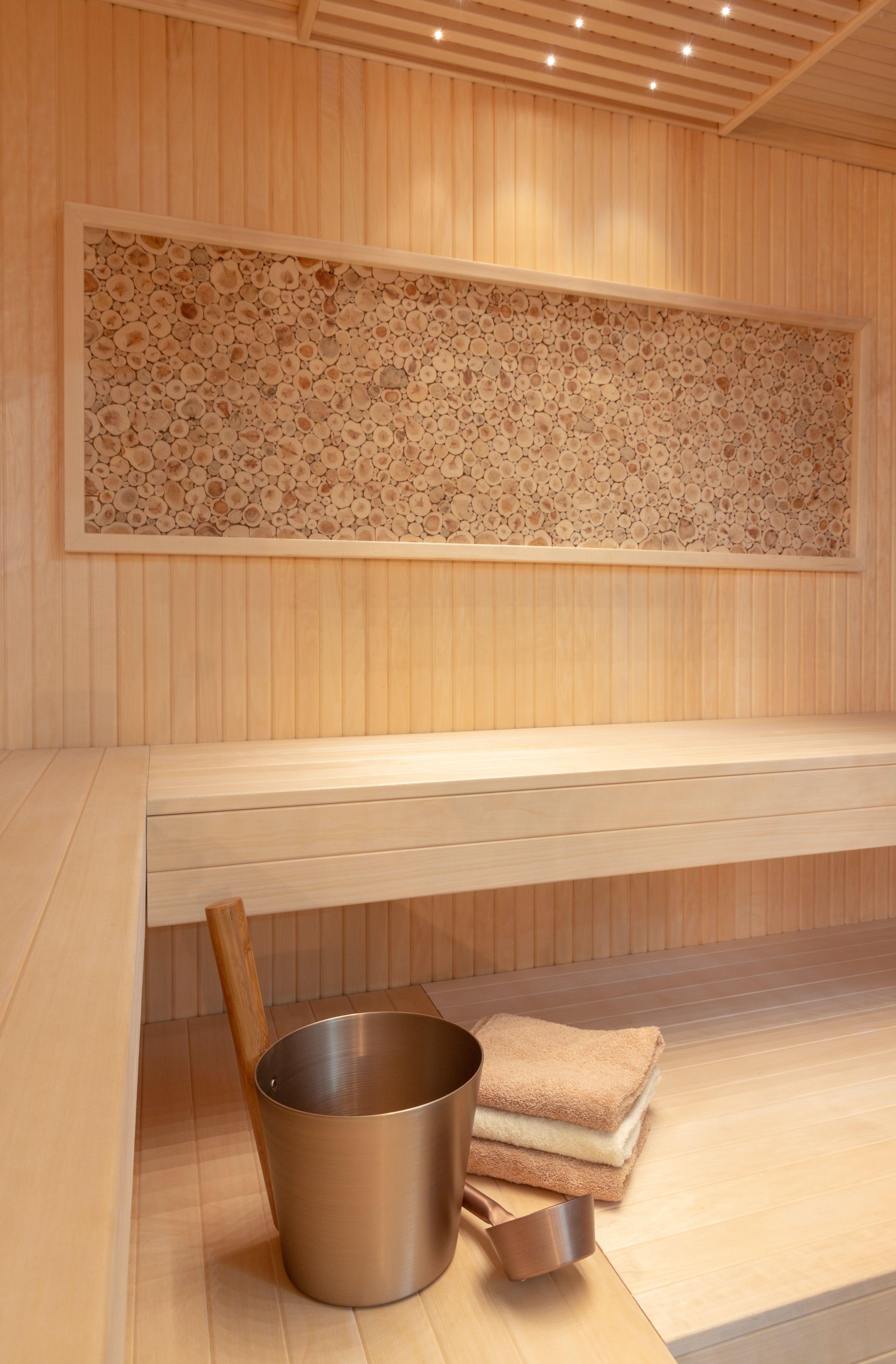 stunning framed juniper wall making a contemporary aspen sauna even rh pinterest com