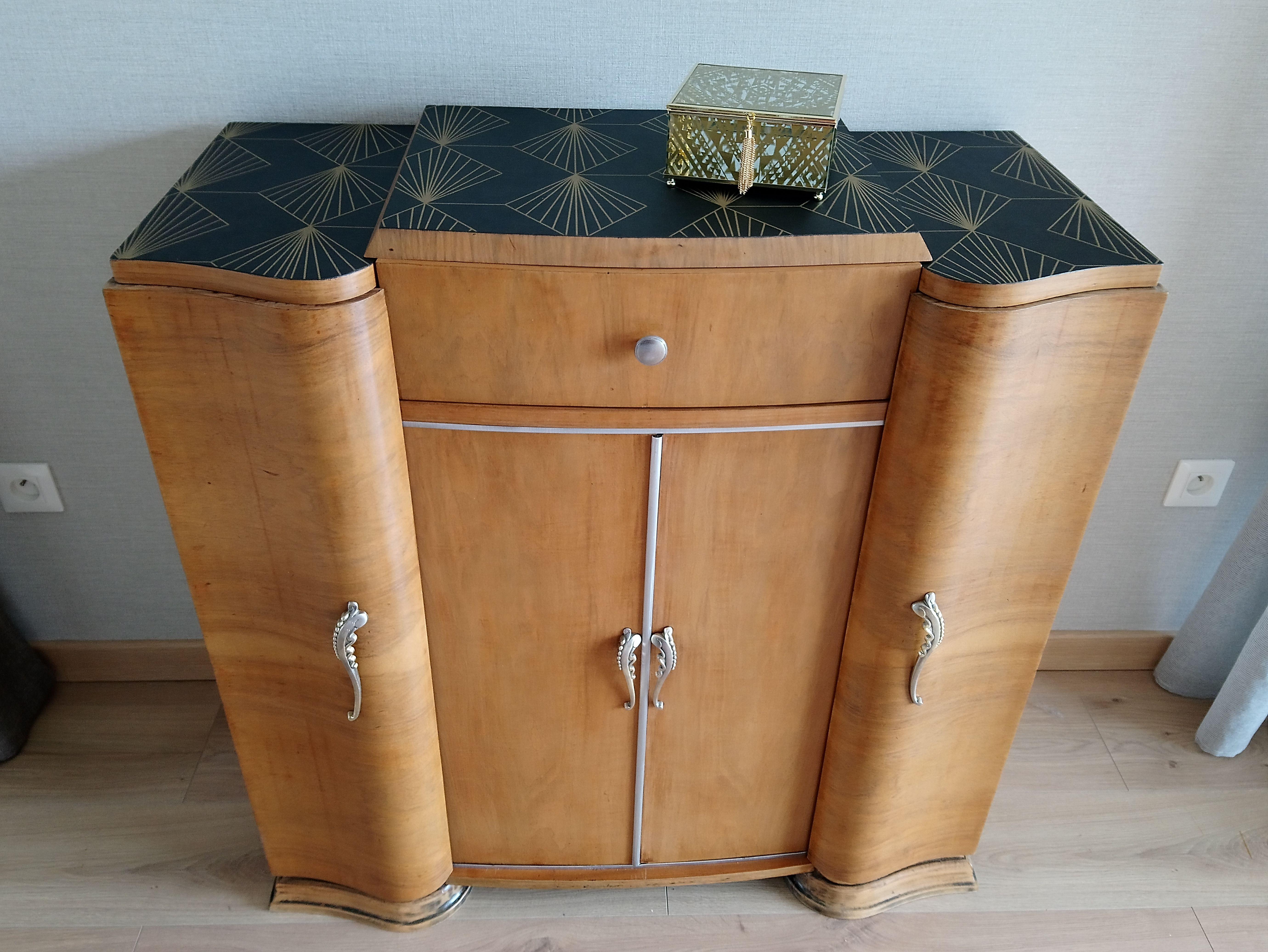 meuble art deco renovation et relooking de meubles nadrenov meubles art deco petit meuble d appoint relooking meuble