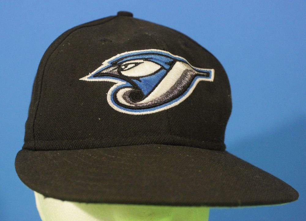 Blue Jays 59fifty Hat Cap 7 1/8 Fitted New Era Black White