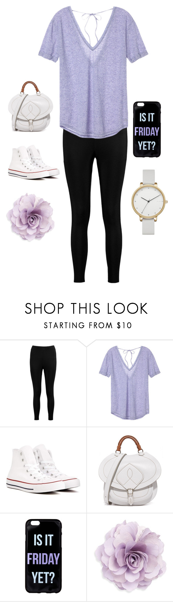 """""""💟💟"""" by mahaahsan ❤ liked on Polyvore featuring Boohoo, Victoria's Secret, Converse, Maison Margiela, Cara and Skagen"""