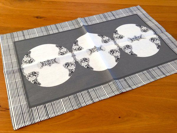 Metallic Medallion Tea Towel in Gray | Deliciously Beautiful Things to Wear and Home Decor.