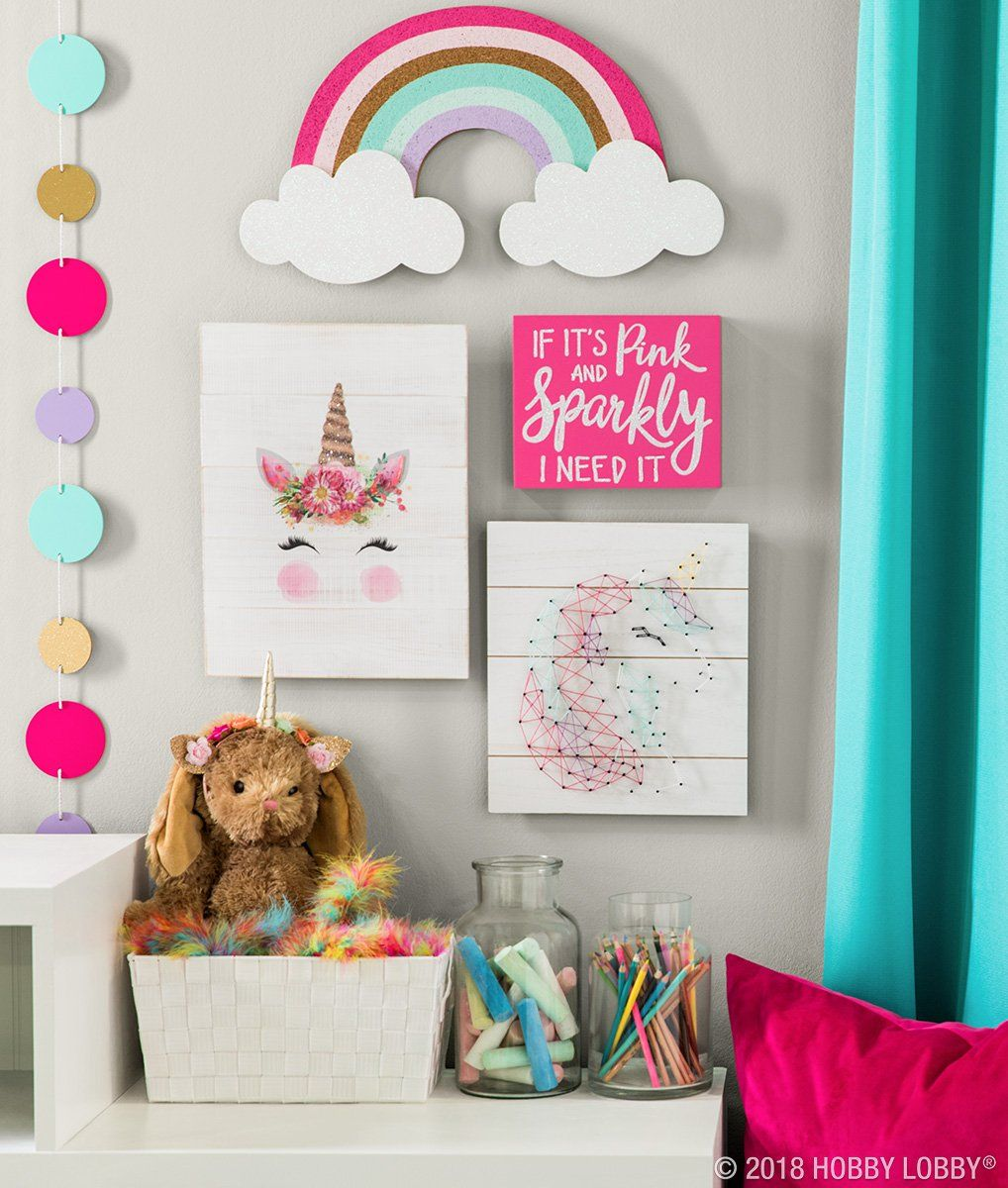 Hang some happy with magically cute decor featuring ...