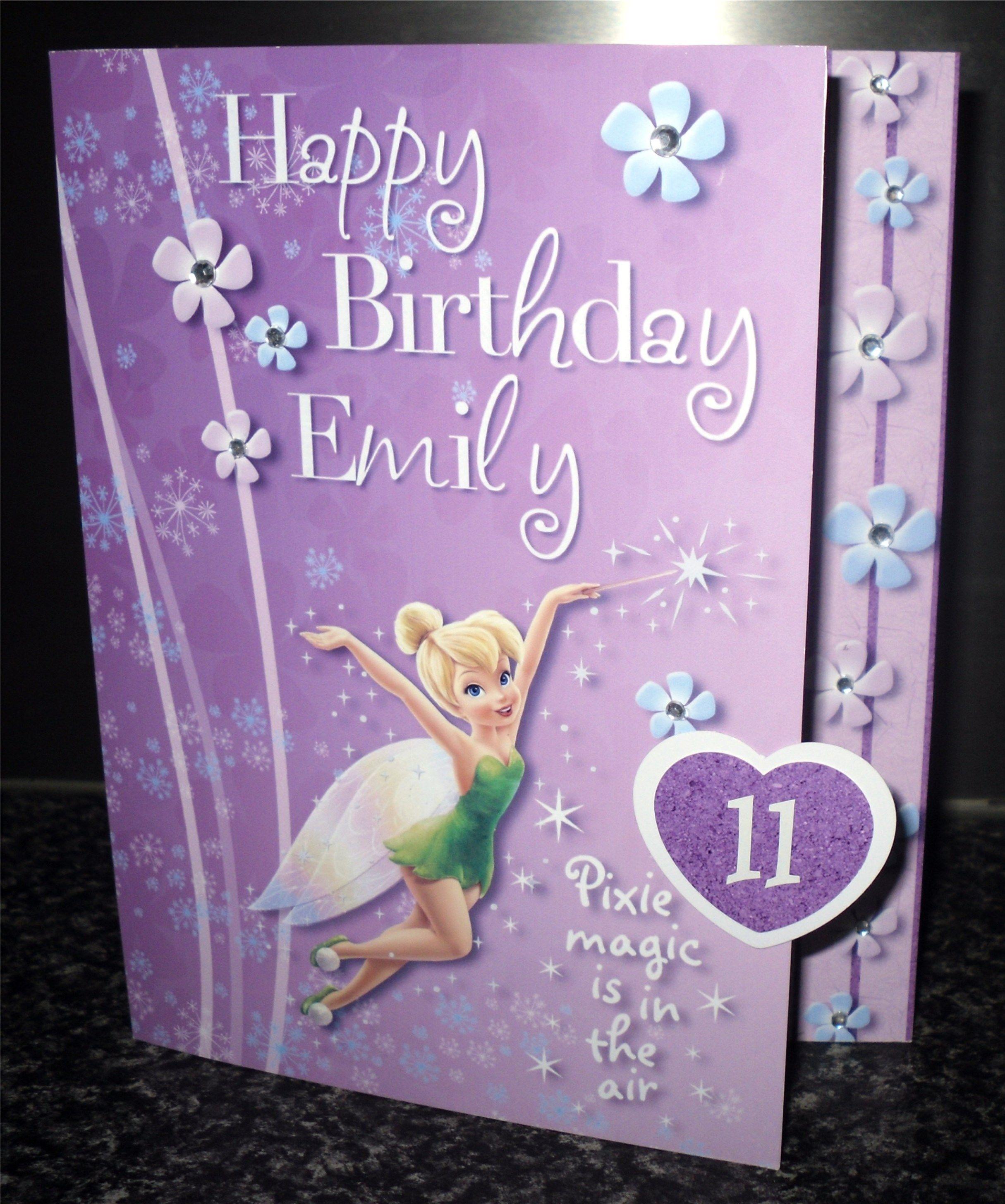 Fairy Birthday Card 11 Year Girl Cards