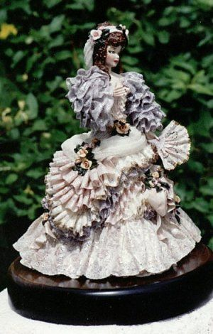 Lace Draping Porcelain Doll | porcelain lace draping general information after mixing your porcelain ...