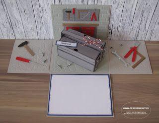 Geschenkbox Uberrraschungsbox Explosionsbox Werkzeugkiste Baumarkt