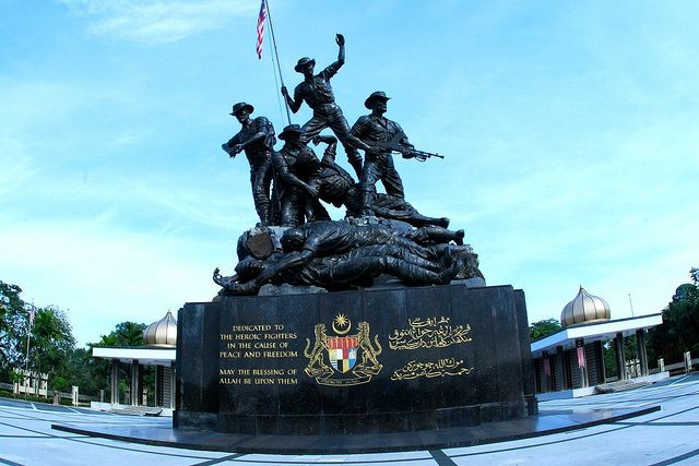 The National Monument Or Tugu Negara Is Right Next To Lake Gardens