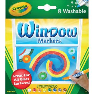 Crayola Washable Window Markers Crayola Window Markers Window Markers Washable Markers
