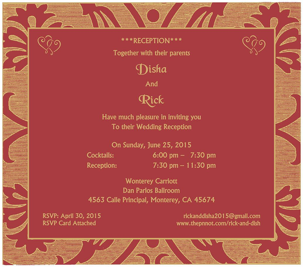 Wedding Invitation Wording For Reception Ceremony | Reception ...