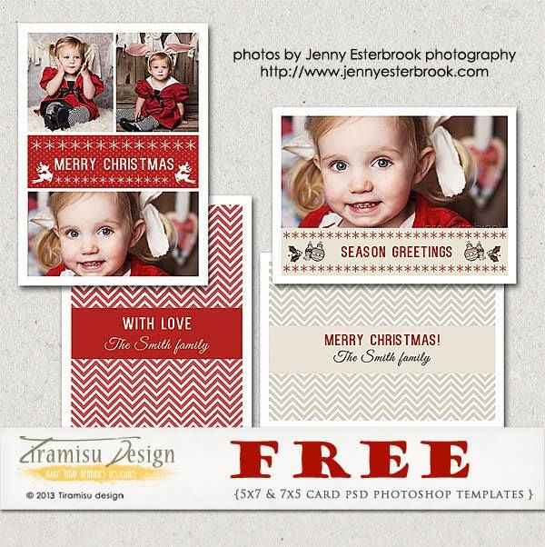 Free Donwload 5x7 And 7x5 Christmas Card Psd Photoshop Templates Photoshop Christmas Card Template Christmas Photo Card Template Christmas Card Photoshop