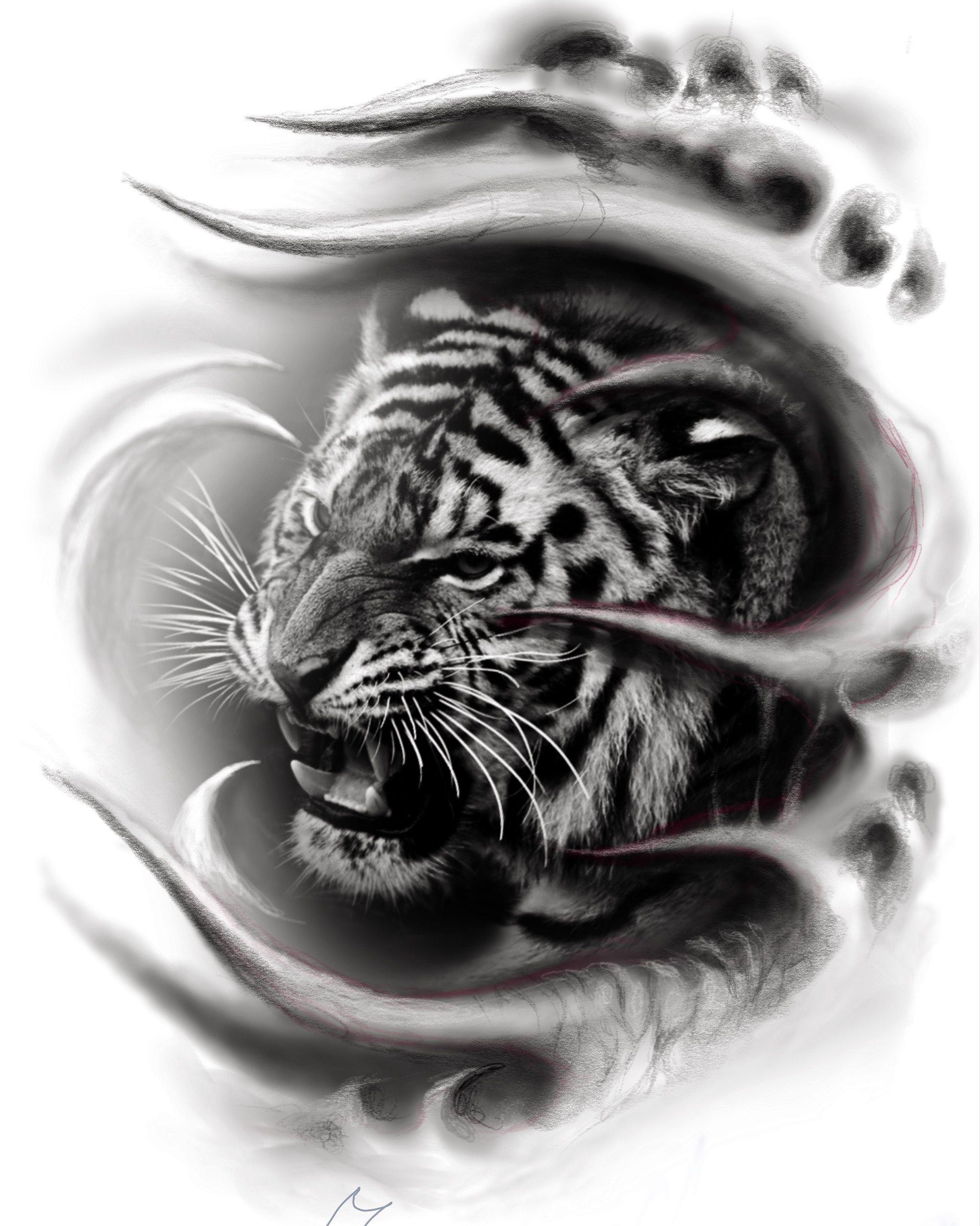 Картинки тигры татуировки