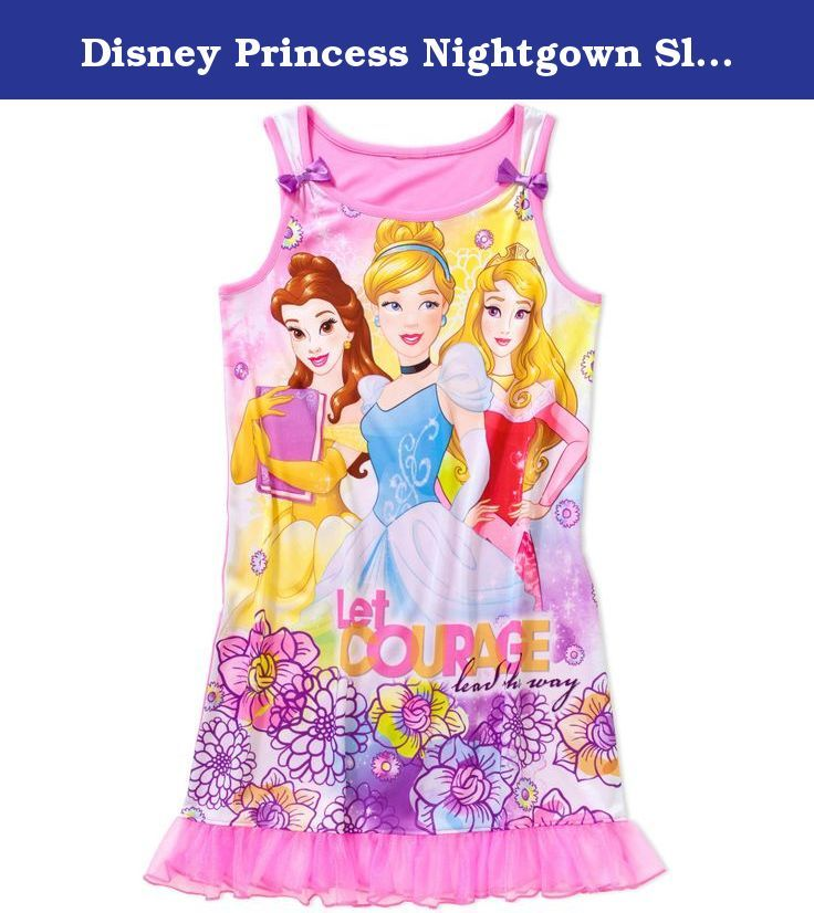 Disney Princess Nightgown Sleep Gown Big Girls\' M (7/8) Pink. Big ...
