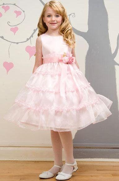 moda y nios elegancia estilo trajes de fiesta para nias cortos color rosa