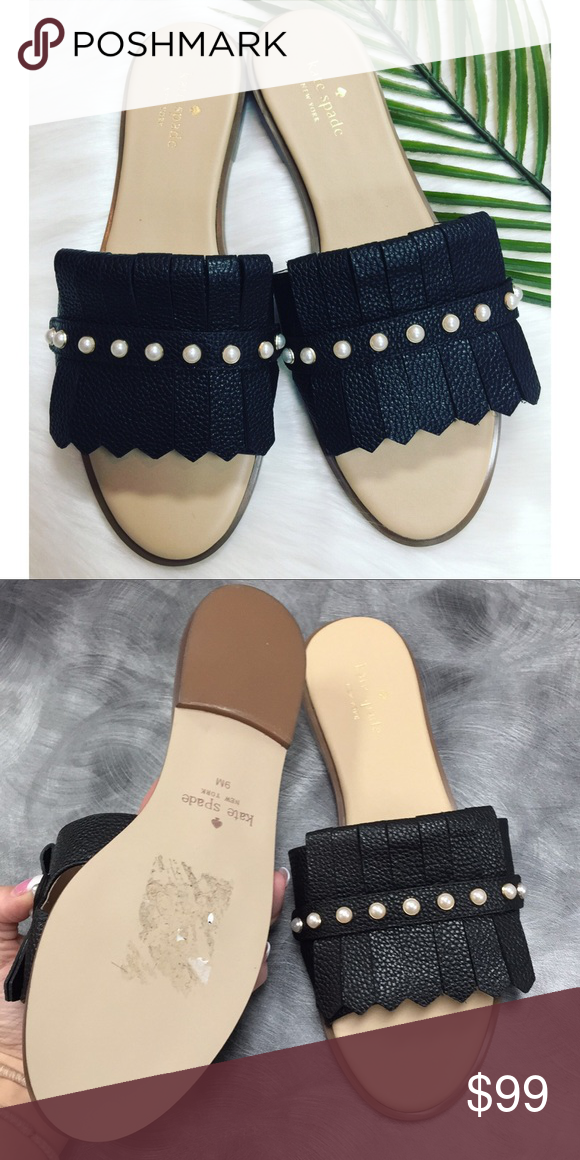 04bcc567d9a6 Kate Spade Leather Pearl Slide Sandals - NWT Brand new!! Never worn!! No  trades  ) kate spade Shoes Sandals