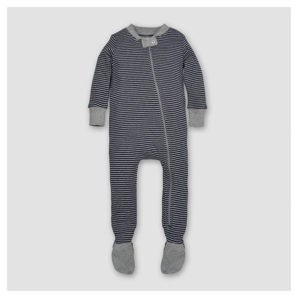 4b91d5d44 Baby Boys  Organic Classic Stripe Sleeper Midnight 12 M - Burt s ...