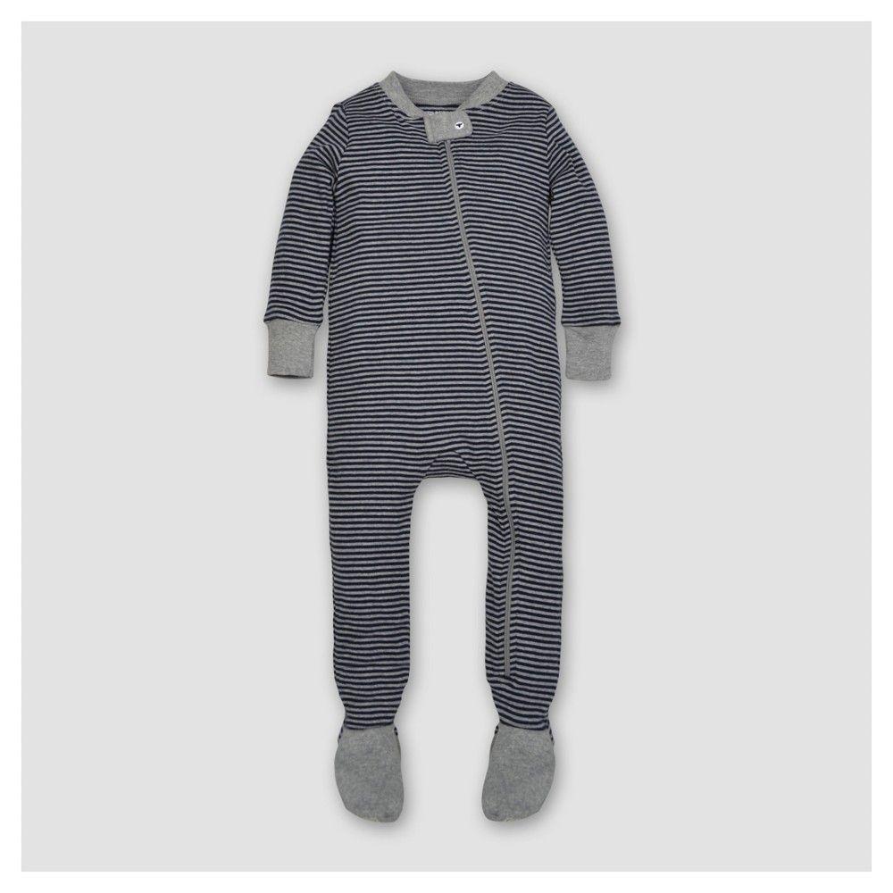 1c2379ca4 Baby Boys  Organic Classic Stripe Sleeper Midnight 12 M - Burt s ...