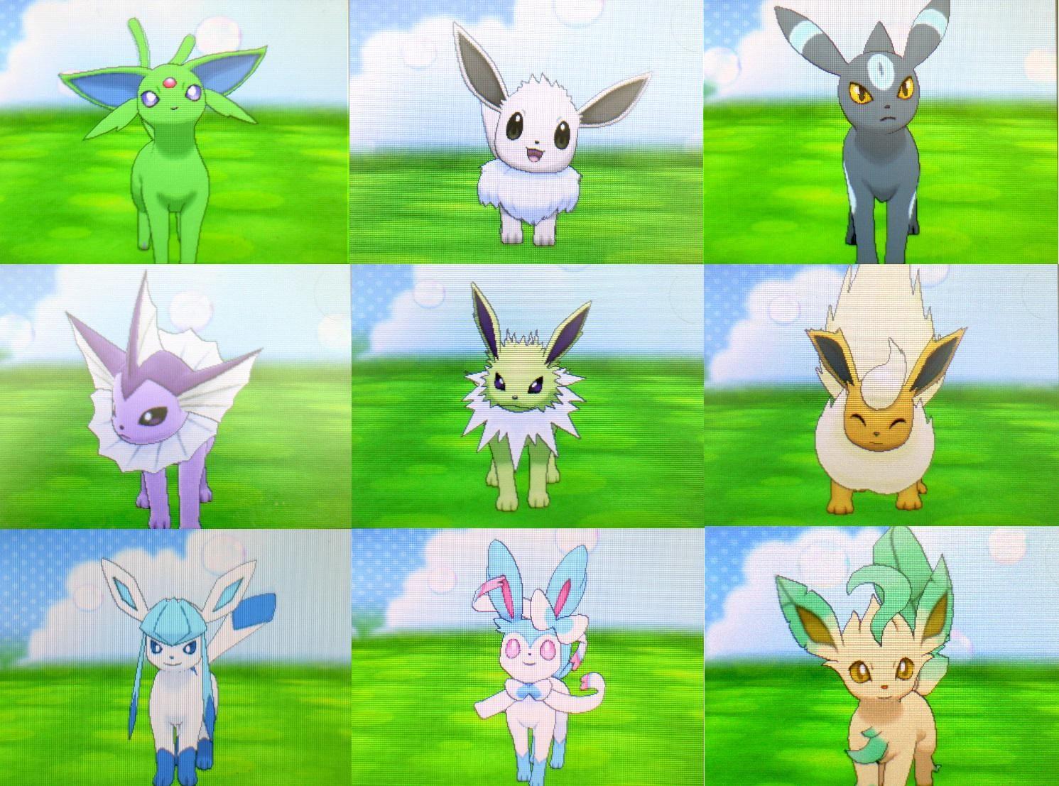 Shiny eevee evolutions | Shiny eevee evolutions, Pokemon ...