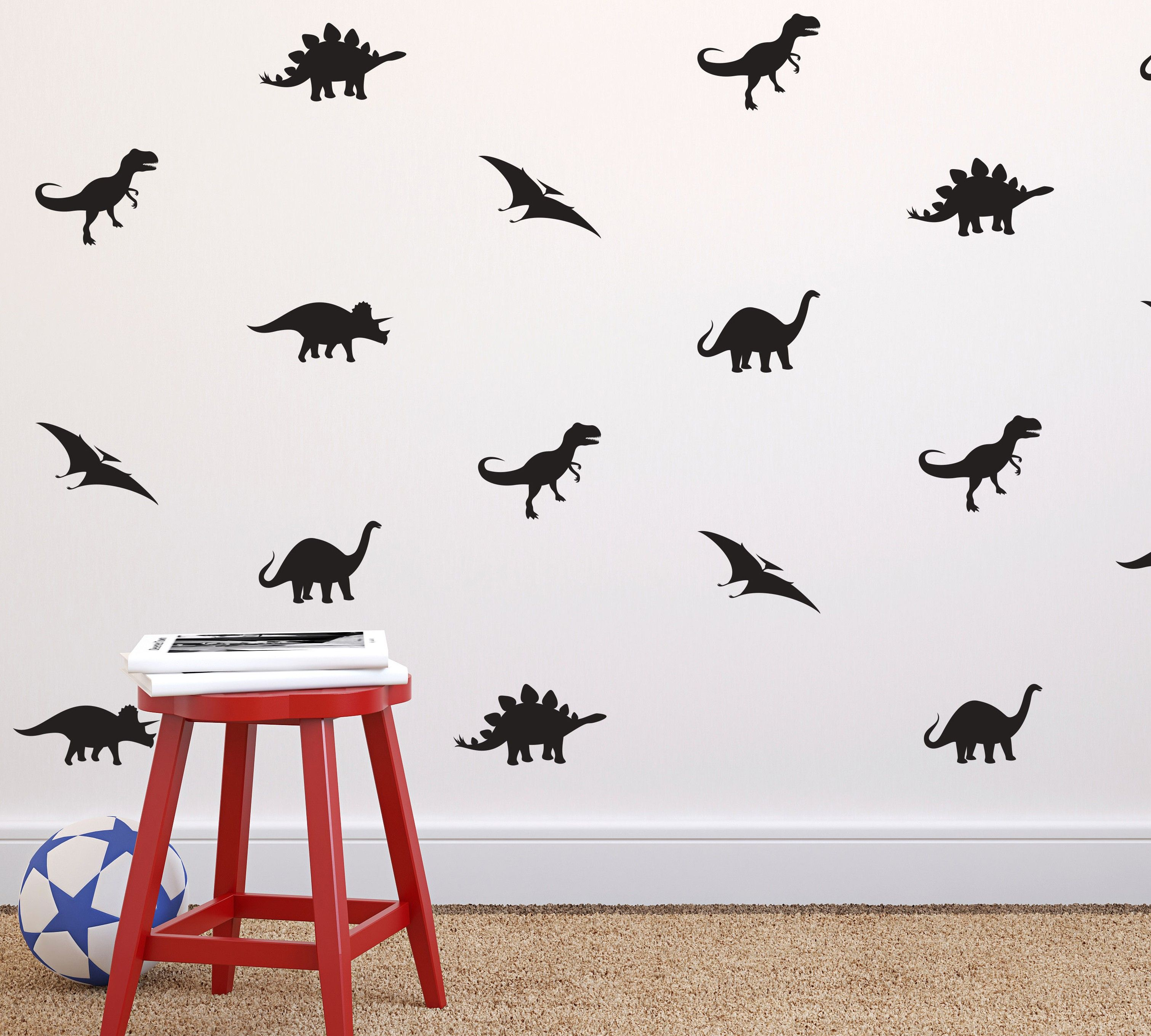 Tiny Dinosaurs Wall Pattern Wall Decal | Dana Decals  sc 1 st  Pinterest : patterned wall decals - www.pureclipart.com