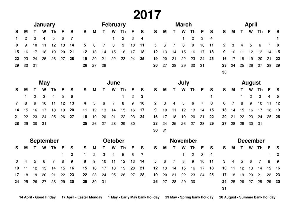 Printable 2017 Calendar Free From Janus Calendars Designed To Be