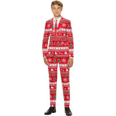 Teen Winter Wonderland Christmas Suit Size 10 Multi-Colored