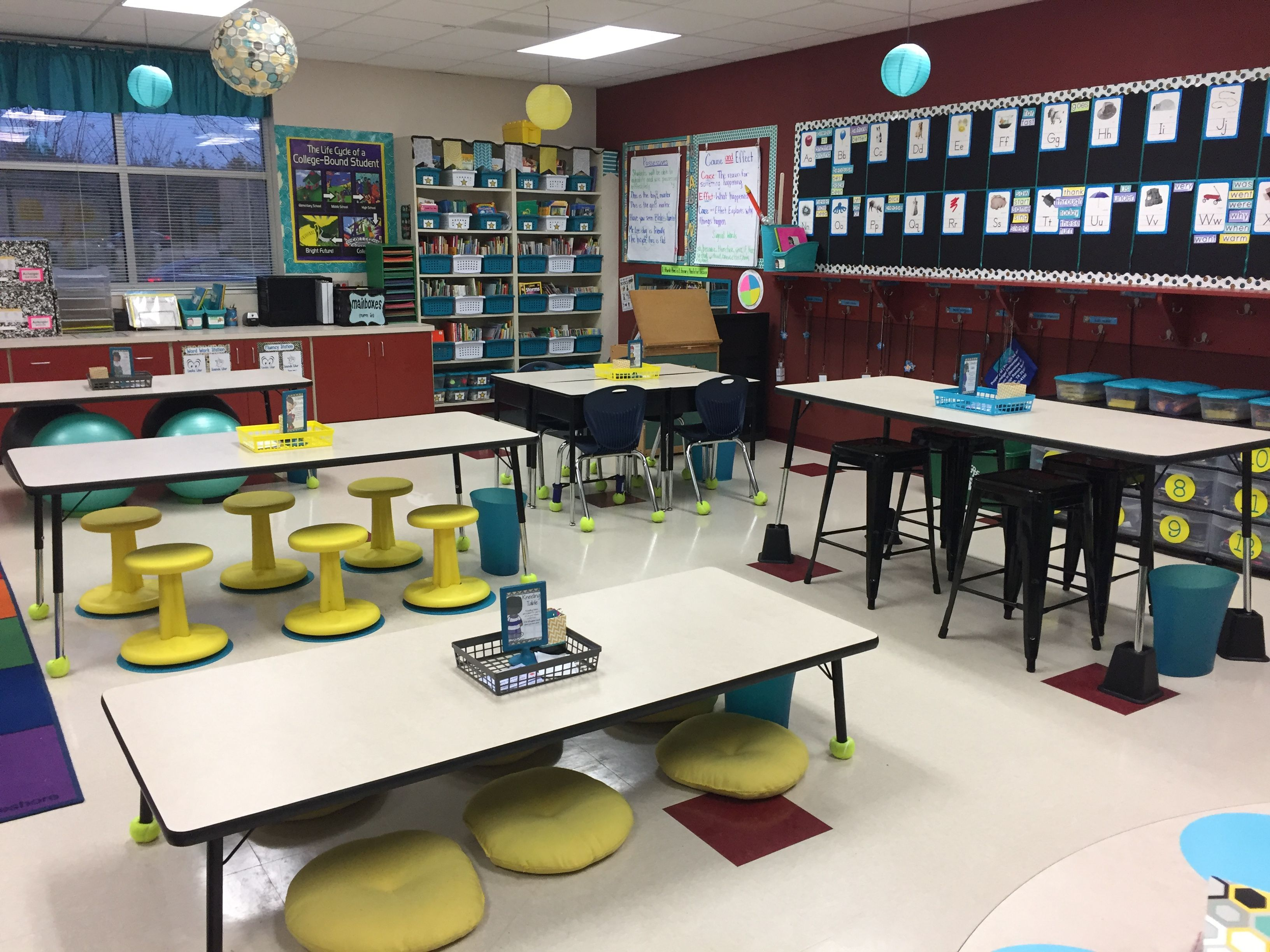 Modern middle school classroom - Flexible Seating
