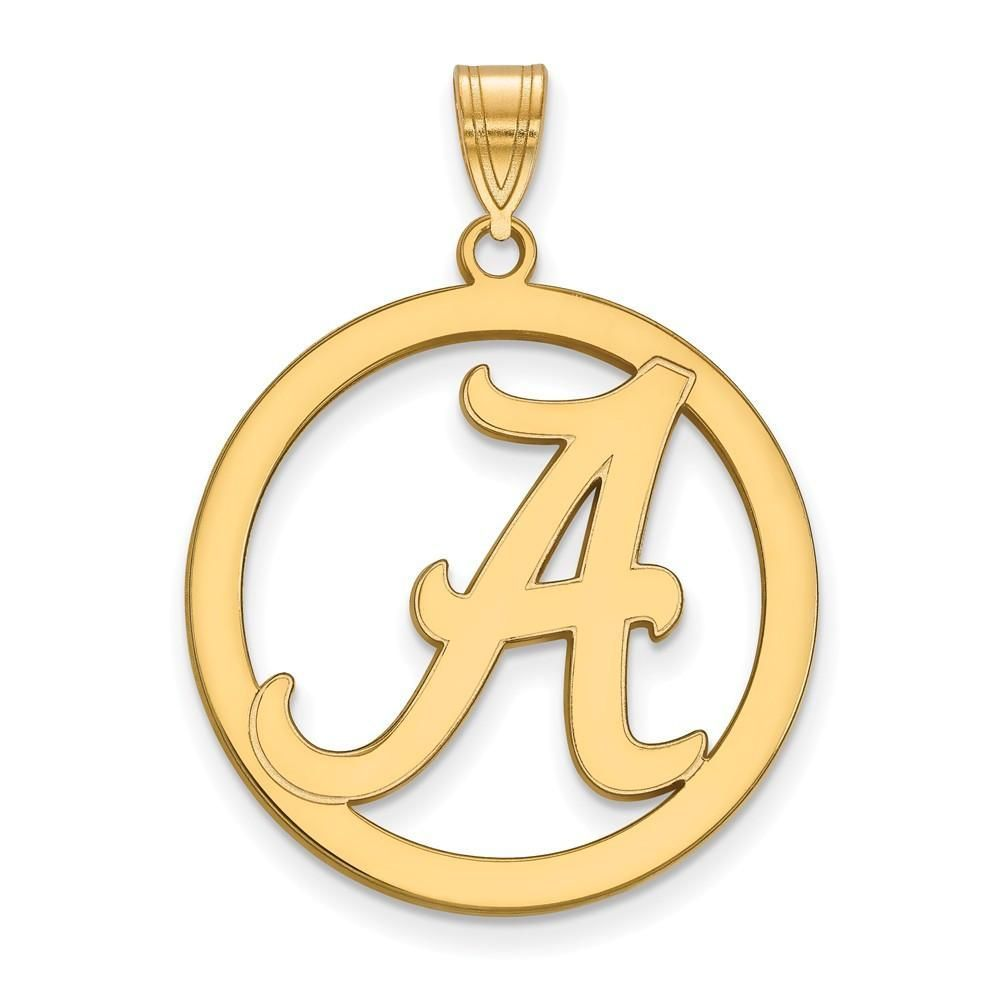 Sterling silver wgp logoart university of alabama l pendant in