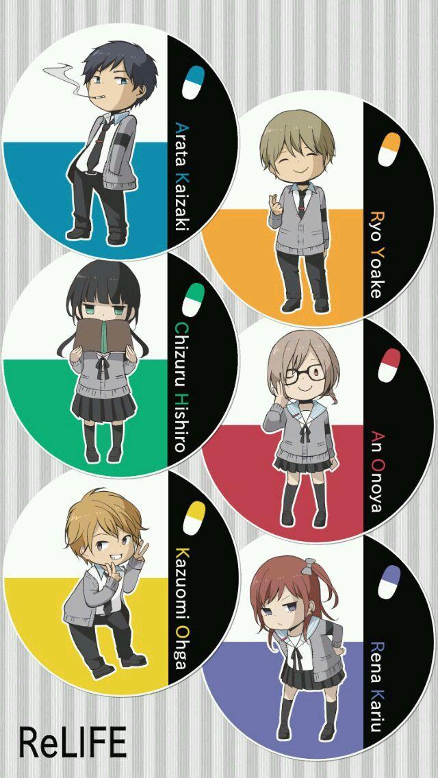 ReLife_Characters Relife anime, Imagenes animadas, Anime