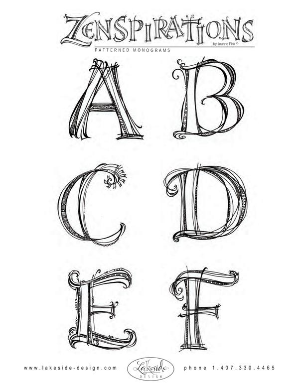 Dropbox Zentangles Alphabet Pdf Letras Doodle