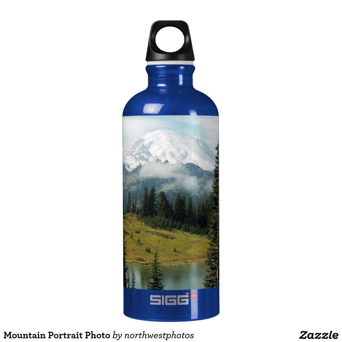 Mountain Portrait Photo Aluminum Water Bottle