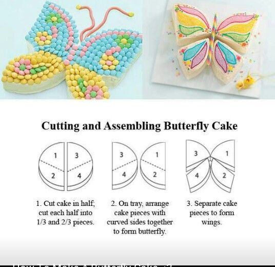 Cute And Easy Butterfly Kids Cake Butterfly Birthday Cakes
