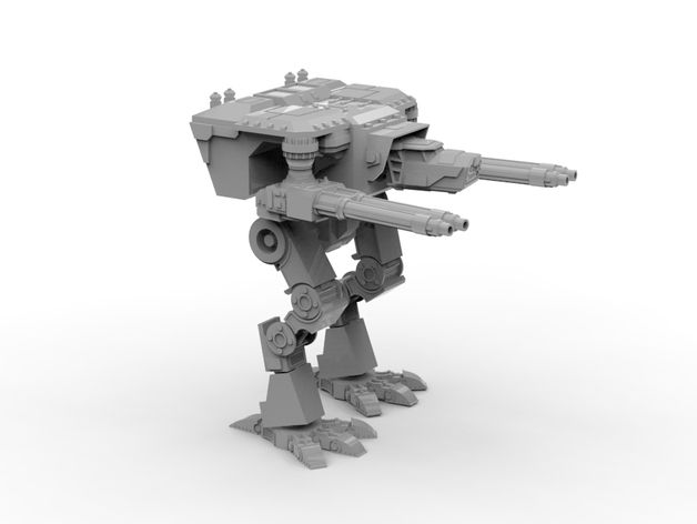 A giant robot titan for use in 28mm tabletop strategy games