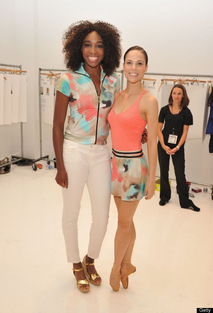 Venus Williams shows off her fashion line, Eleven, at New York Fashion Week
