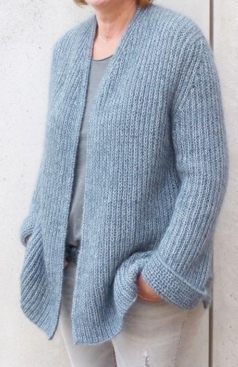 Photo of Knit casual cardigan for women – knitting instructions via Makerist.de #make …