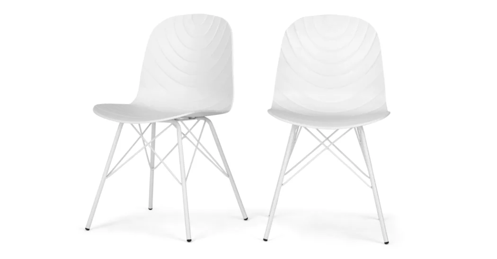Made Com White Dining Chairs Dining Chairs Chair