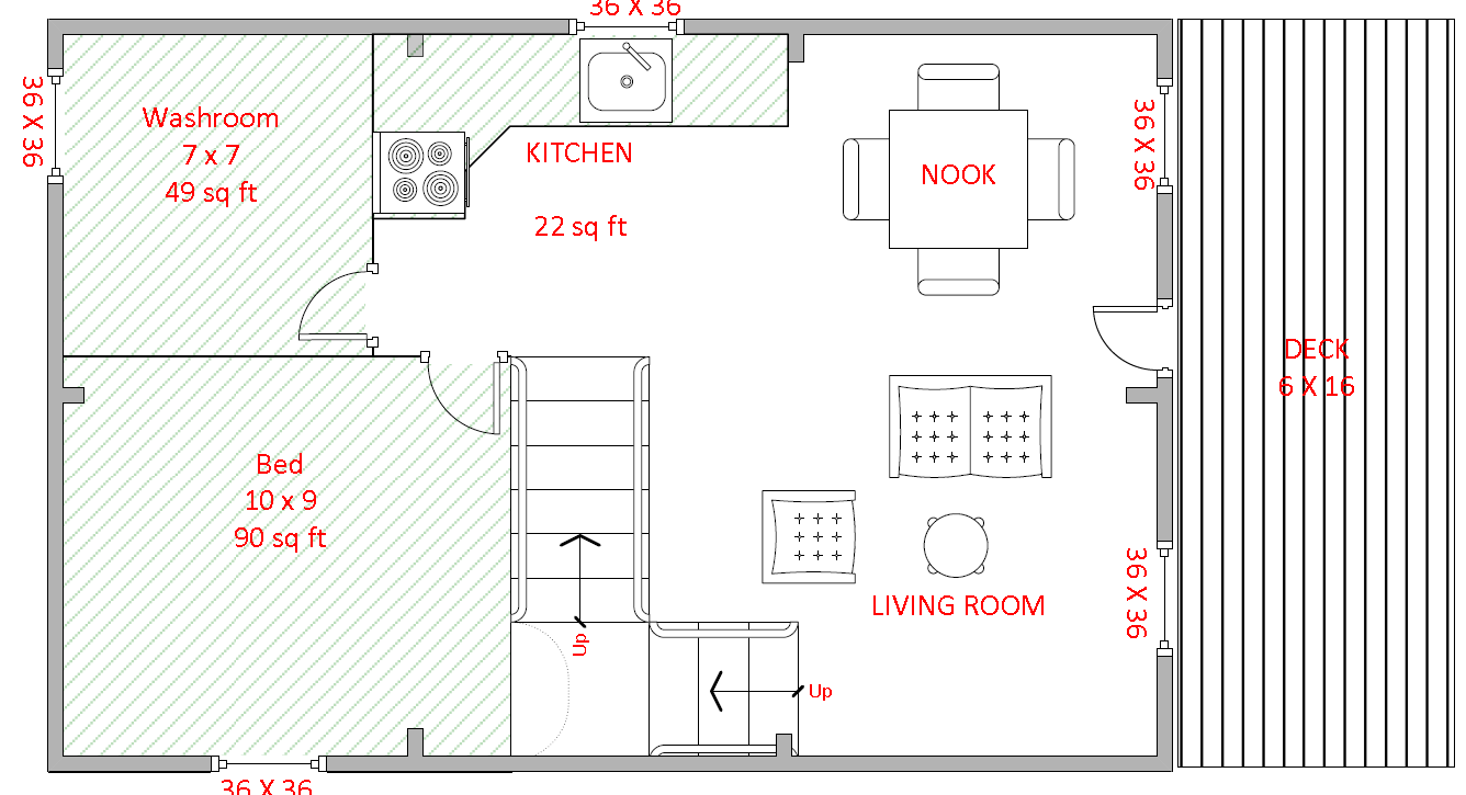 16u0027 X 24u0027 Sample Floor Plan. Please Note: All Floor Plans Are