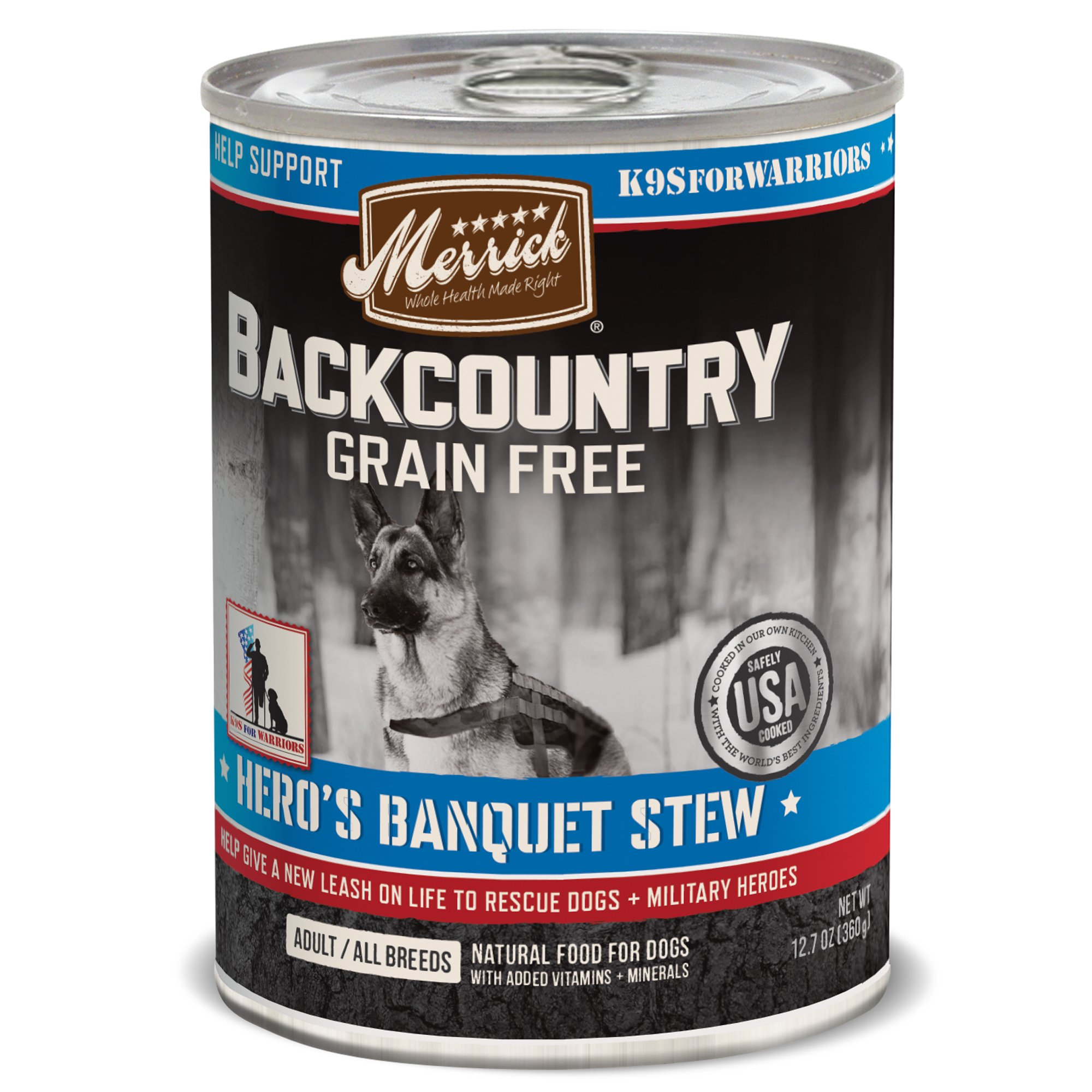 Merrick Backcountry Hero S Banquet Grain Free Wet Dog Food 12 7 Oz Case Of 12 Canned Dog Food Dog Food Recipes Wet Dog Food