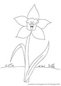 daffodil template printable large bing images birth date stuff