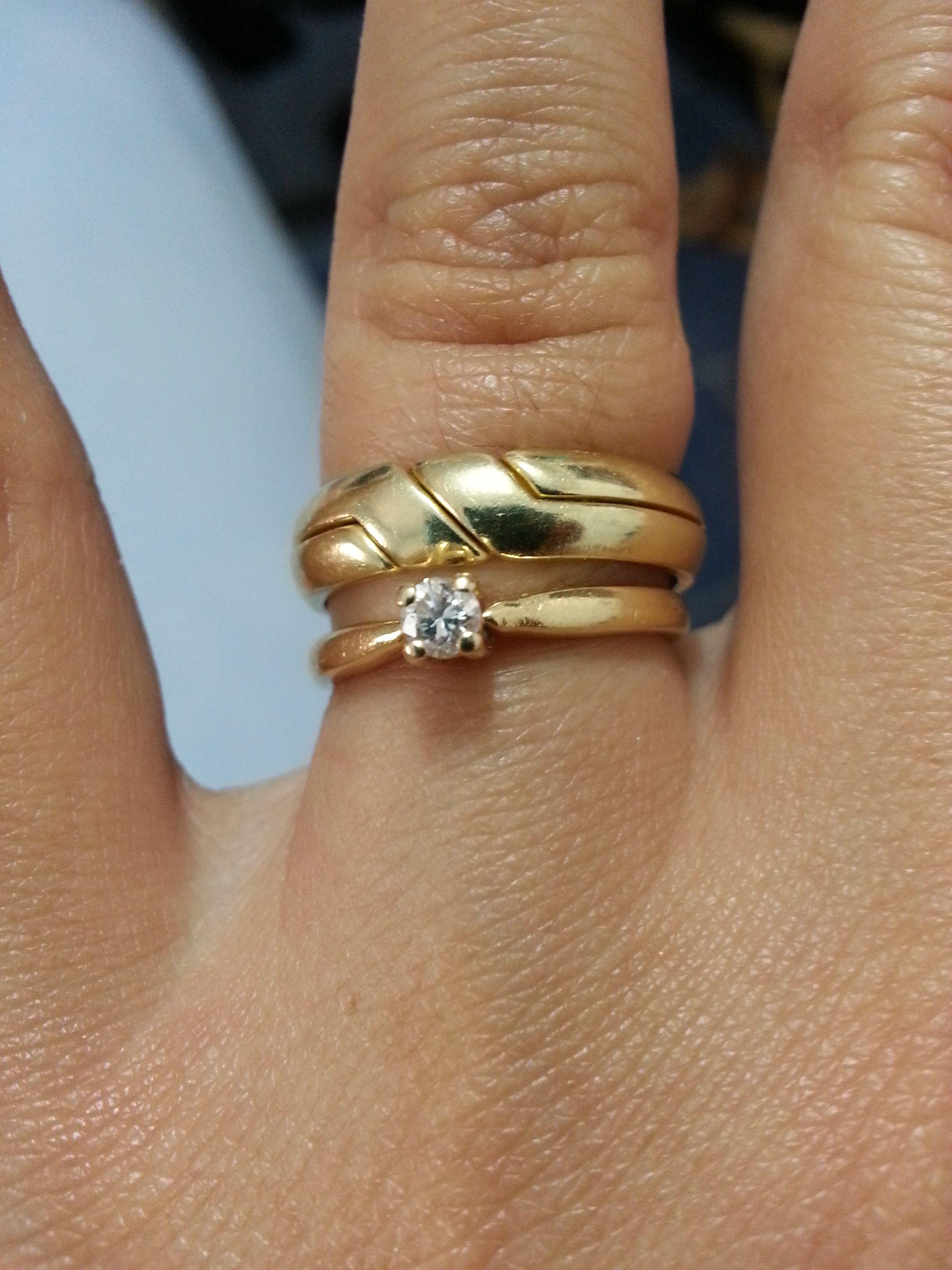93d4ce390bd5 Anillos compromiso y boda oro amarillo 14 k