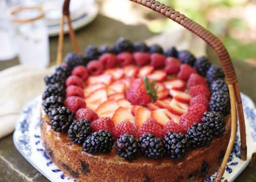 """summer berry torte emily abrams-These recipes are from my book """"Don't Cook the Planet: Deliciously Saving the Planet One Meal at a Time"""""""